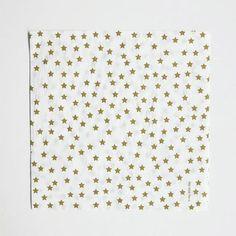 New to the Shop!  Napkins - Gold Stars shoptomkat.comGold Stars