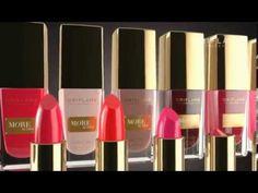 Demi Moore Oriflame's highest pigmentation lipstick and nail polish - YouTube