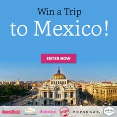 I just entered the Women's Health Real Food Adventure Sweepstakes! Click here to enter. NO PURCH NECCESSARY. Open to the 48 contiguous US & DC (excluding AK, HI, MI and RI), 21+. Ends 1/19/16. See rules at http://www.womenshealthmag.com/MexicanAdventureSweepstakes.