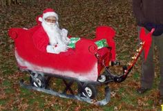 Santa in Sleigh- Costume for kids in wheelchairs.