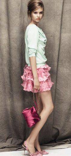 clothes frilly-but-I-want-you-AMS ruffle skirt handbag