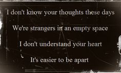 keane lyrics <3