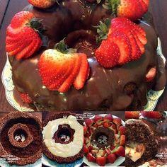 Esse bolo de chocolate com morangos é simplesmente DIVINO!  Passo passo completo no blog  http://www.montaencanta.com.br/bolo-de-festa-2/bolo-de-chocolate-com-morangos/