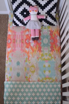 candy kirby designs | fitted crib sheet in watercolor ikat | Online Store Powered by Storenvy