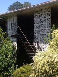 Gorgeous!!! Mid century decorative concrete...love it!