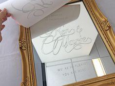 ○○を使えば超簡単にDIY!結婚式ウェルカムミラーの作り方をご紹介 / ウェルカムスペース ウェルカムボード / WEDDING | ARCH DAYS Wedding Welcome Board, Welcome Boards, Astronomy, Wedding Planning, Wedding Decorations, Baby Shower, Diy Crafts, Invitations, Frame