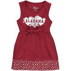 Alabama Crimson Tide Girl's Toddler Heart Tank Dress - Crimson