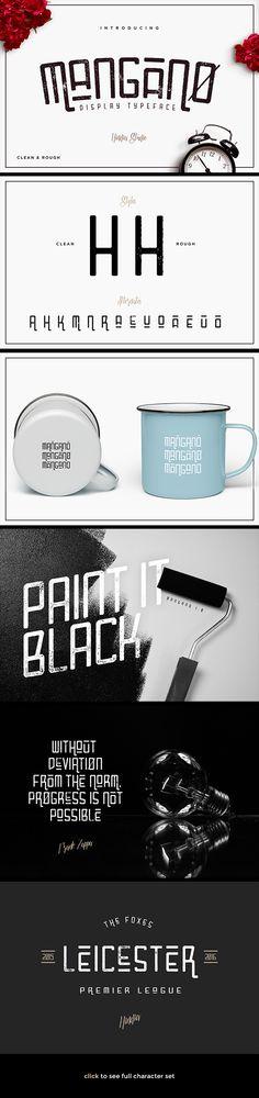 Mangano Font - Miscellaneous Sans-Serif | Download: http://graphicriver.net/item/mangano-font/16185281?ref=sinzo