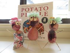 Make your own potato people following reading the story book The Potato People by Pamela Allen
