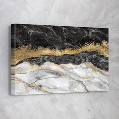 Black Gold Foil - 1 Piece / 45in x 30in / canvas