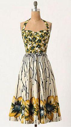 Bridal Shower Attire: Anthropologie Burgeoning Hypericum Dress  Cute
