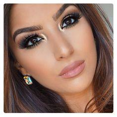 Heiße braune Smokey Eye Make-up Ideen - Makeup - Gorgeous Makeup, Pretty Makeup, Love Makeup, Makeup Inspo, Makeup Inspiration, Neutral Makeup, Glam Makeup, Makeup Light, Heavy Makeup