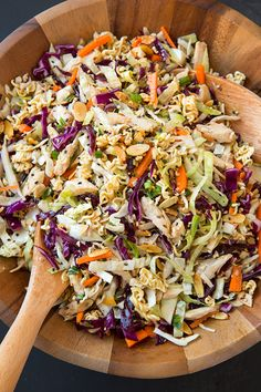 Asian Ramen Chicken Chopped Salad FoodBlogs.com