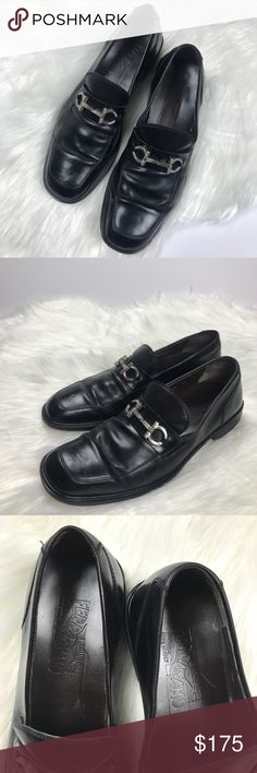 Ferragamo Men's Horse Bit Loafers Black Size 8.5 Ferragamo label Horse Bit Loafer Men's 8.5 Made in Italy Good used condition. Some scuffs along toe area as shown.   I accept reasonable offers and 10% off bundles of 2+!  All items come from a smoke free, pet friendly home. Ferragamo Shoes Loafers & Slip-Ons