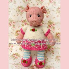 Pigwig the Piglet Knitting Pattern