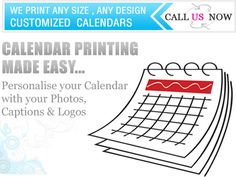 Calenderprinting4u offers a huge range of custom calendar printing services like you can personalise your calendar with your photo,logos etc.