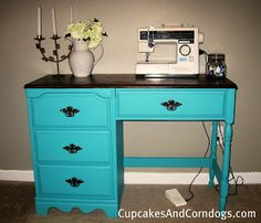 Sewing Desk Redo- would be perfect!!! @Glenda Thornton White something like this for yours