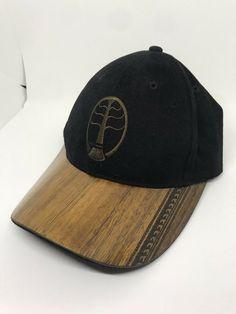 c53770fff52 Kona caps black hat cap wood bill adjustable back strap calabush