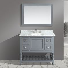"Found it at Wayfair - Silvia 42"" Bathroom Sink Vanity Set with Mirror"