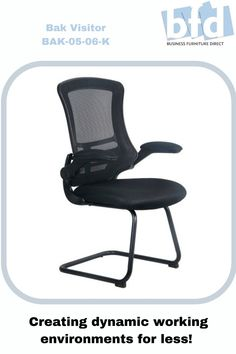 The BAK Black Luca Visitor Chair with Black Frame, more details on our website. Business Furniture, Home Office Furniture, Mesh Chair, Furniture Direct, Chair Fabric, Black Mesh, Arms, Chairs, Website