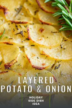 This Potatoes Boulangère is an amazing potato bake. Thinly sliced potatoes and onions are layered in a baking dish with butter and herbs. Then broth/stock is poured over and the layered potatoes are baked in the oven until the potatoes are soft and Oven Baked Sliced Potatoes, Baked Potato Slices, Potatoes Crockpot, Potato Sides, Potato Side Dishes, Vegetable Side Dishes, Scalloped Potatoes Au Gratin, Scalloped Potato Recipes, Cheesy Potatoes