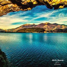 Lake from the cave |  #LagodiGarda #LakeGarda #Gardasee #LacdeGarde #Art #Photography