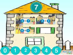 ABN – NUMERACIÓN – NIVEL1 – ¿Quién vive en cada piso de esta casa? (6-8) – En este juego se trabaja la descomposición de números. En la buhardilla aparece el número que se ha de descomponer y, en cada una de las ventanas, se han de realizar descomposiciones diferentes. No hay una solución única para cada ventana aunque, evidentemente, la descomposición debe ser correcta. Family Guy, 1, Projects, Llamas, To Tell, Ordinal Numbers, Interactive Activities, Log Projects, Blue Prints