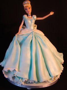 best doll cake ever! Baby Cakes, Girl Cakes, Cupcake Cakes, Gorgeous Cakes, Pretty Cakes, Cute Cakes, Amazing Cakes, Bolo Barbie, Barbie Cake