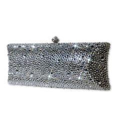Trendy Crystal Clutch Bag  #Swarovski #Clutchbag  http://www.playbling.com/en/trendy-crystal-clutch-bag.html