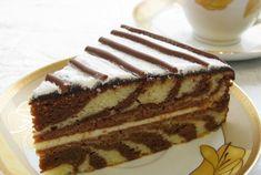Veľmi jednoduchý - ZEBRA koláčik
