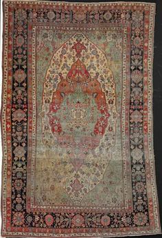 Kashan Mothashem carpet, Persia. Stylised medallion design. Circa 1900. Size 320 x 208 cm. Bruun Rasmussen September auction 16-18 September 2014 including carpets.