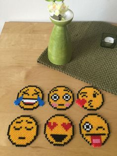 Emoticon coasters via Crafty Tats. Click on the image to see more!