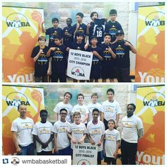 @wmbabasketball 12 boys black championship game MERC defeated Southdale 41 - 26