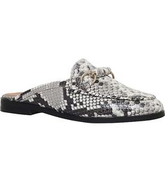 e06d77d8a477 KURT GEIGER LONDON Dusk reptile-effect backless leather loafers