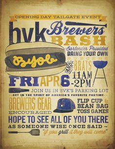 BVK Brewer's Tailgate poster #Milwaukee #Brewer's