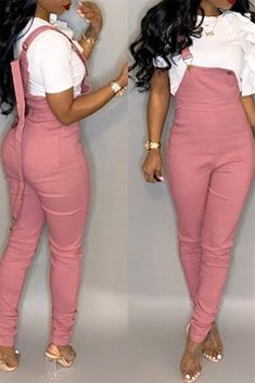 $29.99  Plus Size Solid Color Overall #overall  #solidcolor  #plussize   #pink  #black  #womenclothing  #womenfashion  #freeshipping  #happynewyear