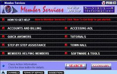 AOL Member Services Screenshot