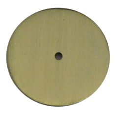 Round Backplate - Satin Brass: This back plate will add a nice touch to any knob, finial, handle, or lighting hardware piece.