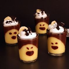 Kids and adults will want to know the trick behind these chocolate-banana ghostly pudding treats.
