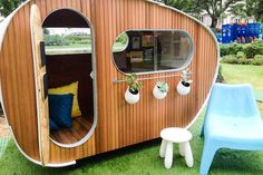 Five creative, high-tech, luxury cubbies are on display at the Melbourne International Flower and Garden Show this weekend - and the highest bidder will be…