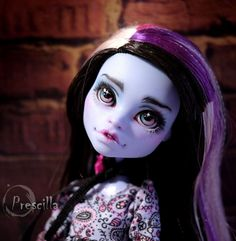 Custom Monster High Abbey Bominable OOAK Repaint by Prescilla #DollswithClothingAccessories