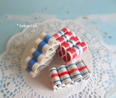 FAKE CANDY Faux Ribbon Candy Patriotic July 4th RB12 - Imagine Out Loud