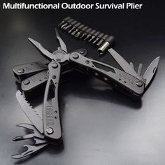 camping game High Quality Outdoor Survival Multifunction Plier Stainless Tungsten Alloy Pocket Multi tools Knife Camping Kit Click the VISIT button to find out more on AliExpress website Camping Tools, Camping Stove, Camping Survival, Outdoor Survival, Camping Equipment, Camping Gear, Outdoor Camping, Camping Games, Camping Checklist