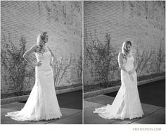 Black and white bridal shoot at historical Hotel Clovis taken by wedding photographer Cristy Cross.