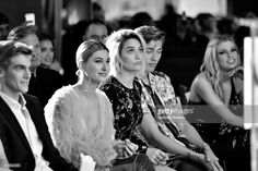 (L-R) Presley Gerber, Hailey Baldwin, Paris Jackson (age 18) and Lucky Blue Smith attend the Daily Front Row's 3rd Annual Fashion Los Angeles Awards at Sunset Tower Hotel on April 2, 2017 in West Hollywood, California.