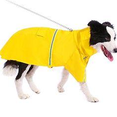 Dog Raincoats Pet Products Spirited Reflective Big Pet Dog Raincoat Waterproof Dog Coat Jacket Medium Large Dogs Labrador Rainy Day Pet Clothes Complete Range Of Articles
