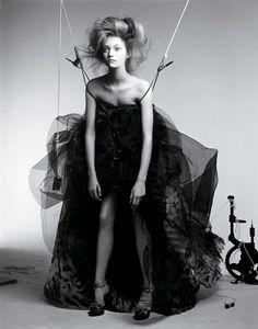 Fashion Editorial - black & white fashion photography // Gemma Ward by Craig McDean for Vogue Italia