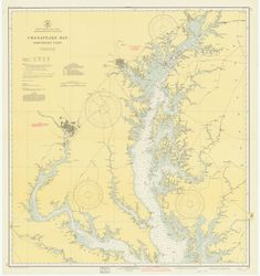 Chesapeake Bay Map - Northern Part - 1942