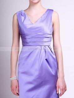 V Neck Pleated Taffeta Bridesmaid Dress 0114066