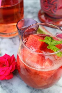 Watermelon Basil Sangria: http://www.stylemepretty.com/living/2015/06/20/22-game-changing-sangria-recipes/